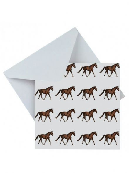 Blank Greeting Card Horses